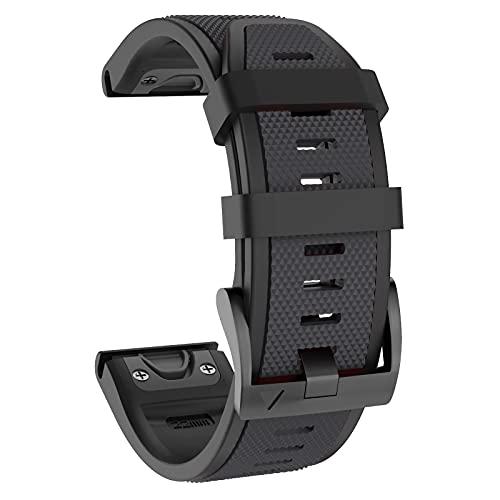 ISABAKE 22mm morbido silicone, cinturino sportivo di ricambio Quickfit per Fenix 5   Fenix 5 Plus   Fenix 6   Fenix 6 Pro   Forerunner 935   Approach S60   Quatix 5 Smartwatch Band