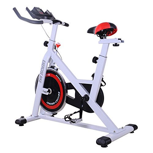 homcom Cyclette Professionale per Allenamento Fitness da Casa Altezza Regolabile Max 120kg Acciaio 107 × 48 × 100cm