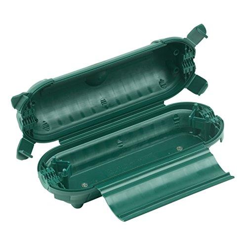Meister Safebox für Verlängerungskabel - IP44 Spritzwasserschutz - Für Kabel bis 9 mm Dicke - Schutz vor Nässe & Schmutz im Freien - Zugentlastung / Schutzkapsel für Kabel / Sicherheitsbox / 7436090