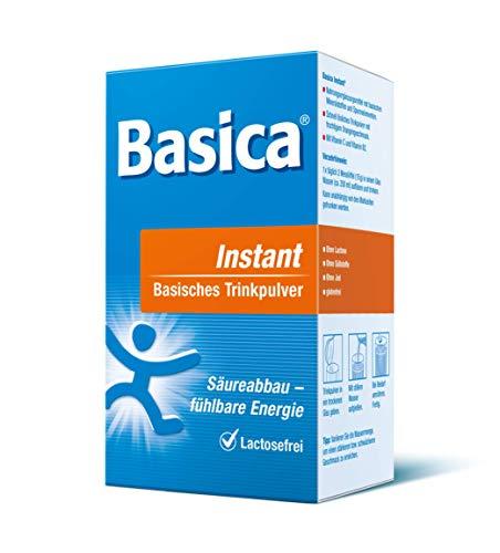 Basica Instant, basische Trinkpulver, 300 g, und der Herstellername: Protina Pharmazeutische GmbH