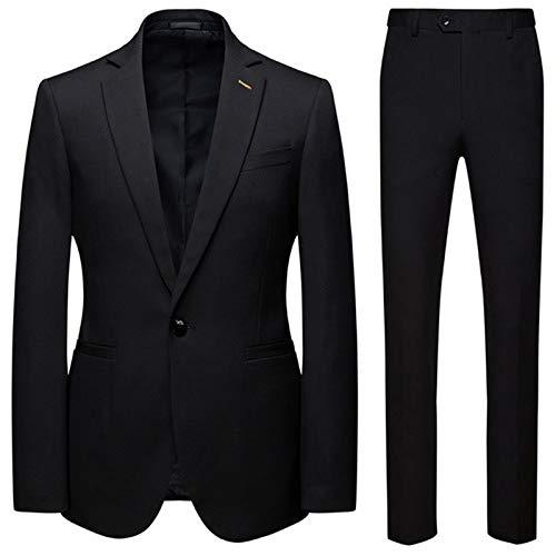 Set de 2 piezas de ropa de deporte para hombre, estilo casual, para el día 2020 negro 4XL 81/85 kg