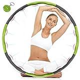 TTMOW Hula Hoop zur Gewichtsreduktion, Hula-Hoop-Reifen für Fitness, 8 Abschnitt Abnehmbares Design,mit Mini Bandmaß kommt Farbe zufällig