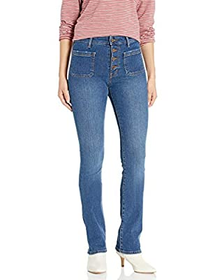 Sanctuary Women's High Rise Demi Boot Cut Jean, Linden - Button Fly, 27