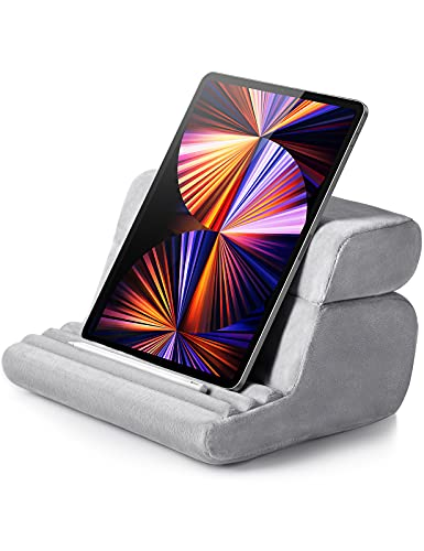 UGREEN Tablet Pillow Stand Holder Cushion for Sofa Adjustable Compatible for iPad Pro 2020 iPad 9.7 iPad Mini 5 4 3 2 iPad Air Nintendo Switch Grey