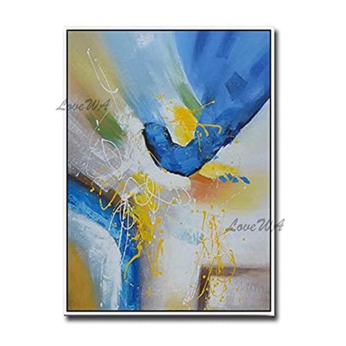 ZNYB Sypialnia obrazy na płótnie na ściany 6 kolorów bez ramy abstrakcyjny obraz akrylowy farba na płótnie 100% ręcznie malowana farba olejna do salonu sztuka płótno plakaty wydruki