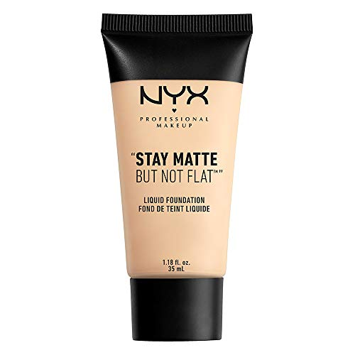 NYX PROFESSIONAL MAKEUP Stay Matte But Not Flat Liquid Foundation, Soft Sand, 1.18 Ounce