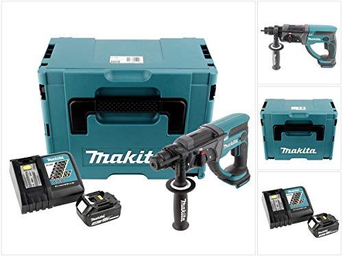 Makita DHR 202 RF1 Akku Kombihammer 18V 2,0J SDS Plus in Makpac mit 3,0 Ah Akku und Ladegerät