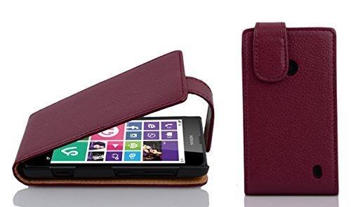 Cadorabo Custodia per Nokia Lumia 630/635 in Lila Bordeaux - Protezione in Stile Flip di Similpelle Strutturata - Case Cover Wallet Book Etui