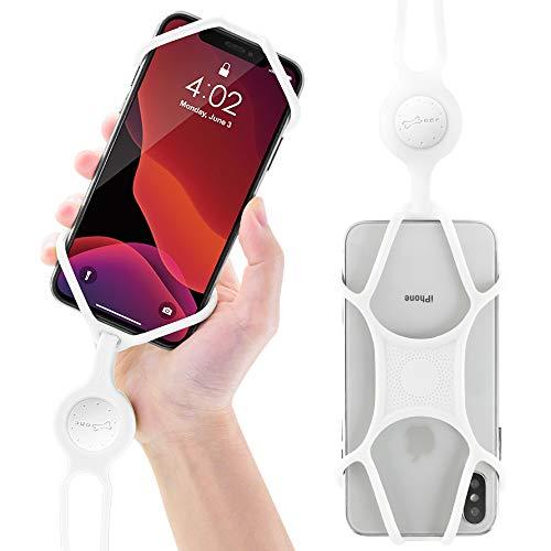 Lanière Tour de Cou de Téléphone Portable en Silicone, Étui Universel avec Cordon pour Smartphone iPhone 11 Pro Max XR XS Max X 8 7 Plus Samsung Galaxy S10 S9 S8 Note 9 Pixel Huawei, Blanc