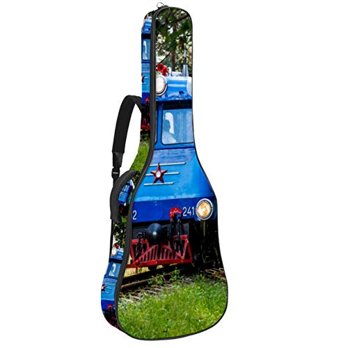 Bolsa de guitarra para locomotora de tren vintage acolchada para guitarras acústicas,...