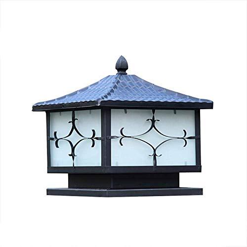 Equipo para el hogar Luz de mesa de pilar Faros de columna de época Faros de columna europeos Faros de hierro Decoración de jardín maravillosa Faros de postes (Color: Negro Tamaño: 30 veces 30 vece