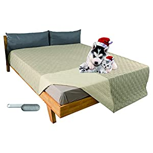 CLEAN ELF 2021 New 100% Waterproof Dog Bed Cover, 52×82-102x82inch Sofa Cover Anti-Slip, Reusable Changing Pad, Washable Camping Mat for Pets/Kids/Adult/Dog/Cat,Embroidery Thread Blanket