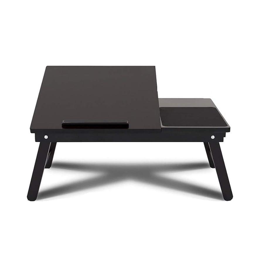 ファブリックはっきりしない彼のWZ ソリッドテーブルの折り畳みコンピュータテーブル省スペースベッドのデスクの学生の小さなデスクの寮の怠惰なコンピュータのデスクポータブル 屋外のダイニングテーブル