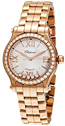 Happy Sport 18 Rose Gold with Diamonds 30mm Automatic Watch 274893-5004