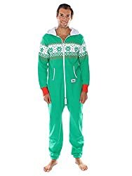 Ugly Christmas Sweater Party - Fair Isle Green Adult Jumpsuit