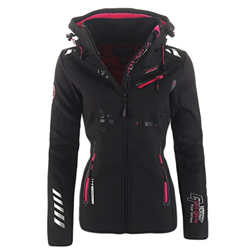 93K1 Geographical Norway Reveuse II Lady SP612F/GN Softshelljacke Schwarz L