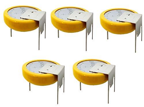 PKCELL 5 x GS-CMOS Batterie/Battery BIOS BR / CR2032-GS mit Lötfahne 3V für PC EINWEG v