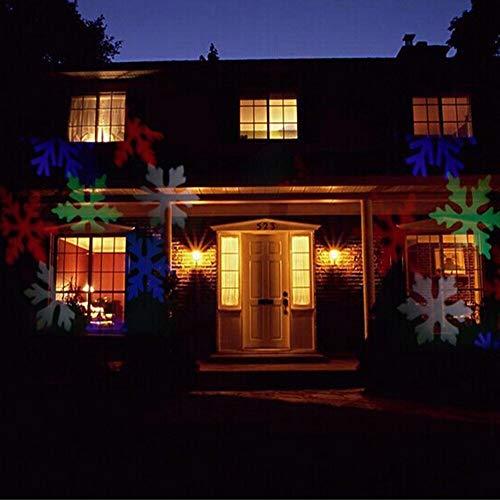 Fiocchi di neve in movimento automatico Vacanze di Natale Proiezione esterna impermeabile Neve 110 V 220 V Garden House Deco Luce notturna 3D Lampada da tavolo a LED Regalo di compleanno per bambini