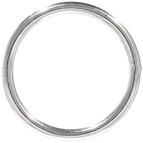 Craft County Welded Steel O-Rings – for DIY Projects, Decoration and Art (1 1/2 Inch Diameter X 10-Pack) Kentucky