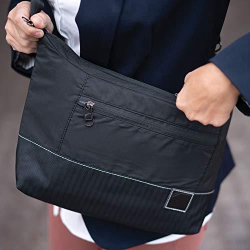 Lewis N. Clark Anti-Theft Crossbody Purse + Sling Bag for Women, Black, One Size