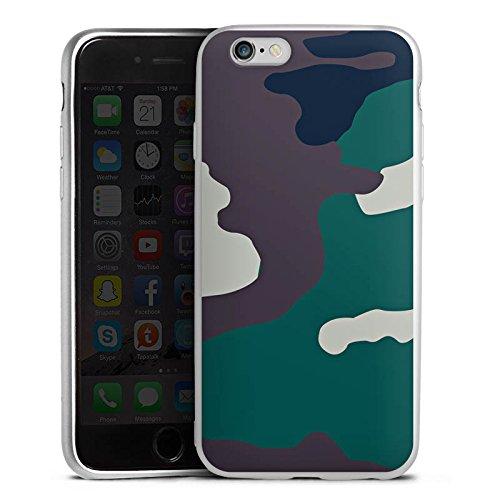 DeinDesign Cover kompatibel mit Apple iPhone 6s Silikon Hülle Silber Case Schutzhülle Camouflage Bundeswehr Tarn Muster