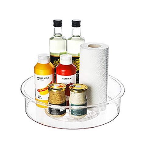 penta Mensola girevole per spezie, in plastica multiuso, supporto girevole per vasetti di spezie, supporto cosmetico per cucina, frigorifero, armadio