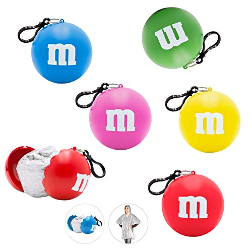 M&M's Poncho Ball Keychain Party Favors Bundle ~ 5 Pack