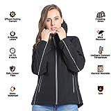 CONQUECO Damen Beheizte Jacke Beheizbare Softshell Heiz Jacke Wasserdicht Winddicht warm mit Akku und Ladegerät zum Outdoor Arbeiten (S) - 7