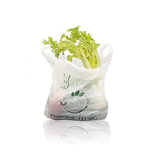 Palucart® - Caja con 500bolsas de la compra biodegradables y compostables según la normativa 2018(27+ 7+ 7x 50)