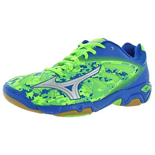 Mizuno Boys Wave Mirage Jr Big Kid Indoor Sports Sneakers Green 4.5 Medium (D)