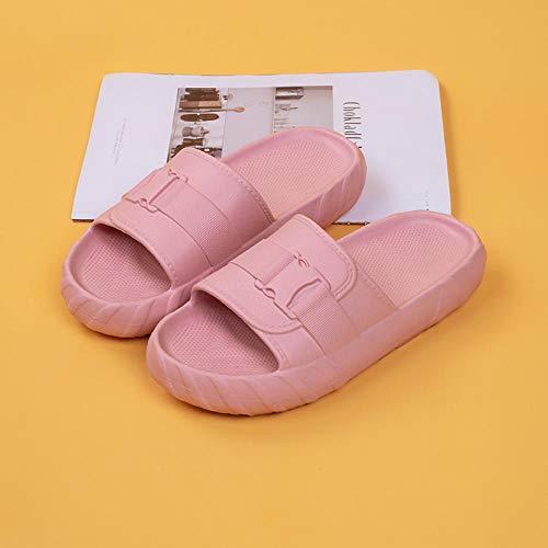 XZDNYDHGX Zapatos De Playa Y Piscina para NiñA,Zapatillas Mujer Hombre Casual Diapositivas para el hogar, Playa Zapatillas Suaves Zapatos de baño Antideslizantes Rosa EU 35-36