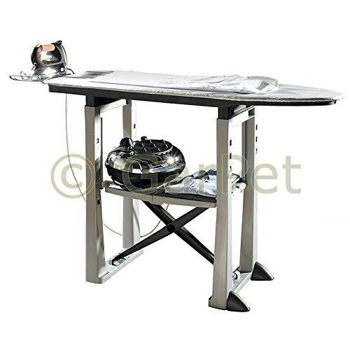 XXL Bügelbrett mit Bügelablage 40 cm Breit Dampf Bügel Tisch Station Höhenverstellbar