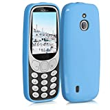 kwmobile Funda Compatible con Nokia 3310 3G 2017 / 4G 2018 - Carcasa de TPU Silicona - Protector Trasero en Azul Claro Mate