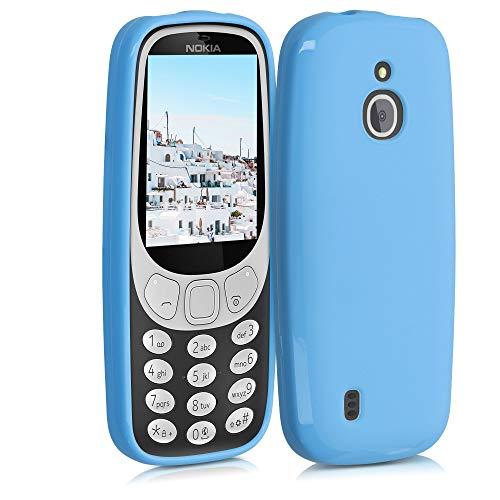 kwmobile Funda Compatible con Nokia 3310 3G 2017 / 4G 2018 - Funda Carcasa de TPU Silicona - Protector Trasero en Azul Claro Mate