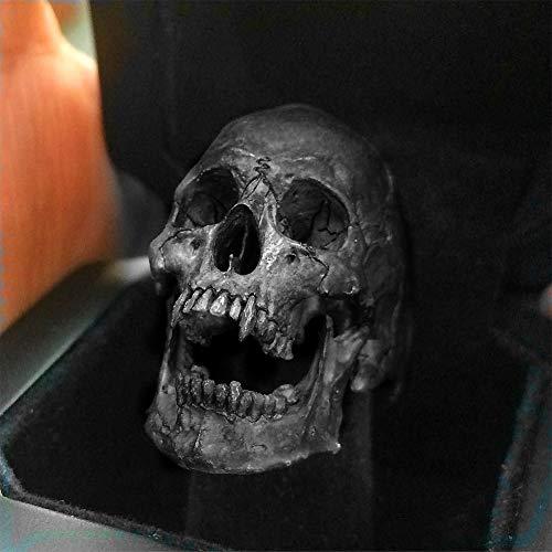 WTZWY Anillo para Hombre Vintage Zinc Alloy Skull Silver Color Biker Rock Roll Gothic Punk Jewelry Ring para Adolescentes Regalo de cumpleaños para Novio Amor hasta la Muerte Significado,7