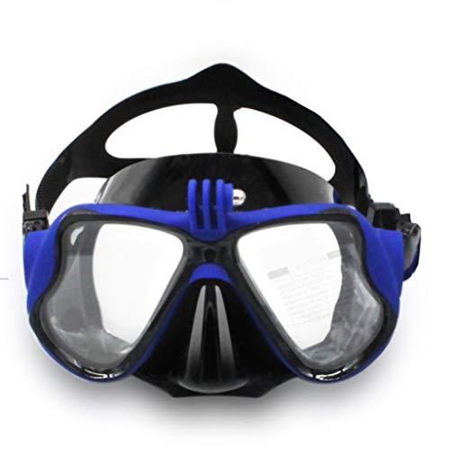 xiaokeai Sin máscara de Buceo nebulización Snorkel Buceo Gafas de Buceo Vidrio Templado Máscara Gafas de natación Profunda Adulto Equipo de Buceo máscara (Color : C)