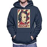 Photo de Cloud City 7 Wolfgang Amadeus Mozart Retro Propaganda Men's Hooded Sweatshirt