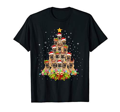 French Bulldog Tree Christmas Sweater Xmas Pet Dogs Gifts T-Shirt