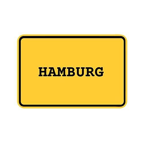 JOllify Aufkleber - Hamburg – Farbe: Design: Ortsschild