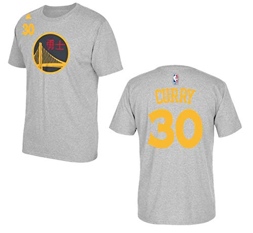 adidas Stephen Curry Golden State Warriors Youth Grey Chinese New Year Name and Number T-Shirt X-Large 18