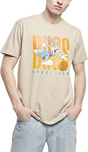 Mister Tee Space Jam Big Bugs Playing tee Camiseta, Arena, XL para Hombre