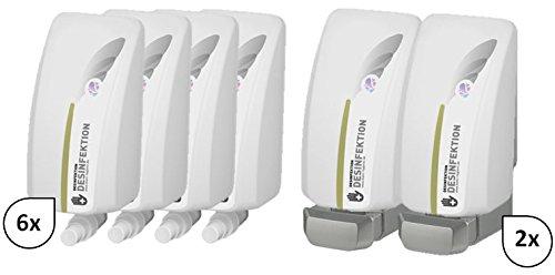 Blanc HYGIENIC Set: Haut- & Händedesinfektion 6X 1-Liter, 12.000 Anwendungen + 2X Lavela Spender - PRODUKTSET