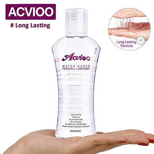ACVIOO Gleitgel auf Wasserbasis – Leichtes, seidiges Gleitmittel für sensible Haut, Gleit und Massagegel Wasserbasis 240ml in der