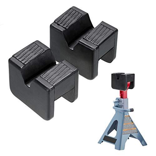 Skelang 2-Packs Jack Pad Adapter Rubber Slotted Universal for Jack Stand, Frame Rail Jack Pinch Welds Protector