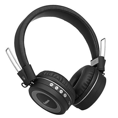 KKmoon Fones de ouvido sem fio Bluetooth 4.2 Música estéreo Fones de ouvido Fone de ouvido na orelha CVC 6.0 Suporte para redução de ruído 3,5 mm AUX-IN mãos-livres com microfone