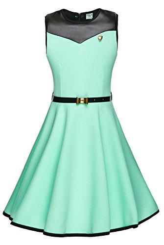 cocomini Kleid für Mädchen festlich schön elegant bequem rundschnitt EXPRESSVERSAND mit DPD (164)
