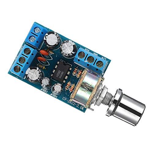 PETSOLA Placa de Amplificador de Potencia Estéreo con Control de Volumen para Casete de Radio, Audio de PC