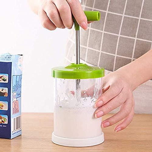 LACKINGONE Milchaufräumer Sahnebereiter Manual Professional Whipping Cream Dispenser | Gerät aus Kunsstoff | DIY Spaß bei Crememachen Kochen Backen zu Hause | Grün/Rot (Grün)