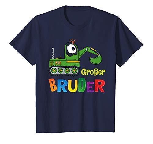 Kinder Großer Bruder T-Shirt Bagger Panda Bär Geschenk Idee T-Shirt