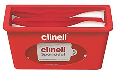 Clinell Wall Mounted Dispenser, Plastic, Red from GAMA Healthcare